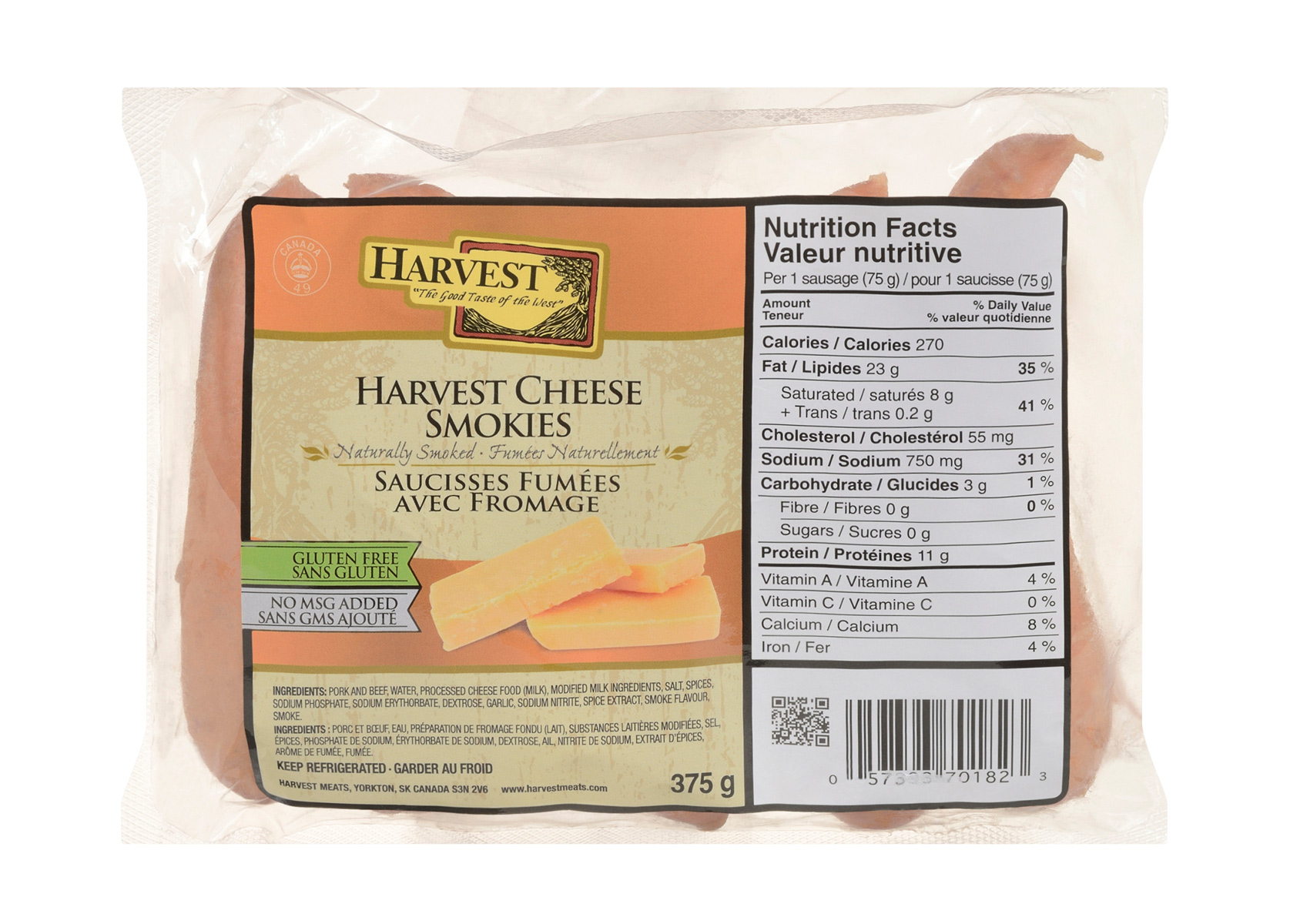 Smokies Cheese 375g | Harvest Meats